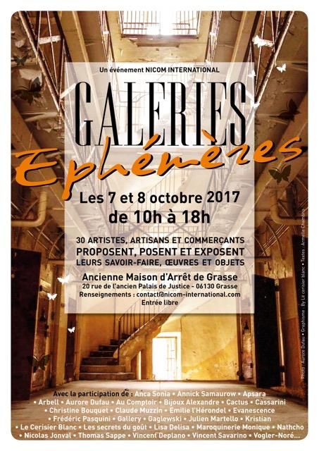Galeries Éphémères - Affiche évènement